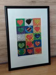 Kunstdruck Art of Hearts von