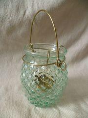 Windlicht türkis Glas
