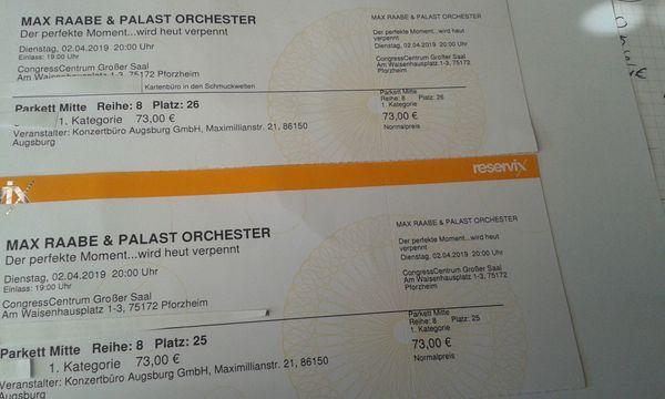 2 Eintrittskarten für Max Raabe