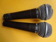 2 hochw Gesangsmikrofone SHURE SM58