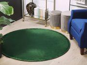 Teppich dunkelgrün ø 140 cm