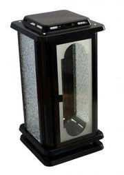Grablaterne schwarz Grablampe Grablicht Grableuchte