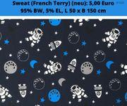 Sweatstoff French Terry Astronauten