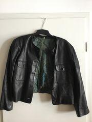 Damen-Lederjacke in schwarz