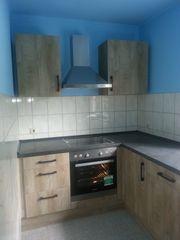 Neuwertige Einbauküche mit neuwertigem Einbaukühlschrank