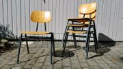 Kinderstühle Schulstühle alt vintage retro
