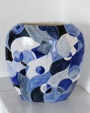 Vase blau oval
