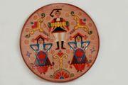 Tonteller Wandteller Sardinien Volkskunst Tracht