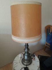 Stehlampe mit Zinnfuß