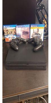 Playstation 4 Pro mit Zubehör