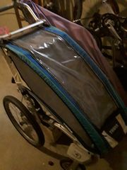 Fahrradeanhänger Chariot 1 Blau Kinderwagen