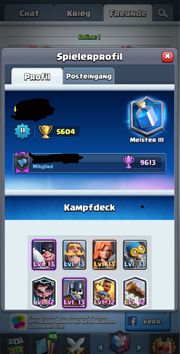 Clash Royale Account 5600 Punkte