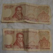 Geldscheine Griechenland 2x 100 Drachmen