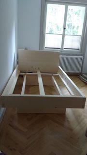 Massivholzbett aus Fichte - Neu - 120cm