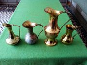Kupferkrüge Vasen 4 Stück