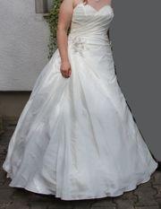 Brautkleid ivory A-Linie Designer Gr