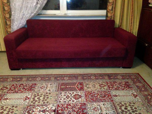 Stabiles Schlafsofa Couch im Bauhaus-Stil