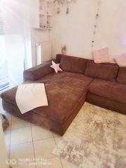 Xxl Couch Farbe braun Velour