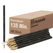 Hussala - Diamond Wachsfackeln Brennzeit 135