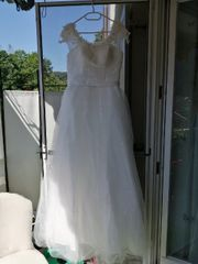 weißes Brautkleid gr38