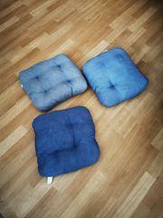 8 x Stuhlkissen blau gebraucht