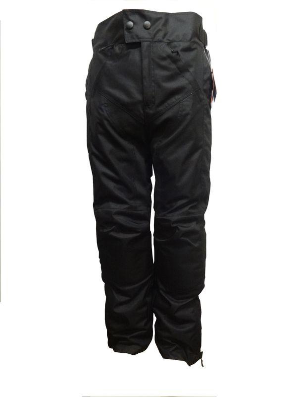 Textil Motorradhose schwarz