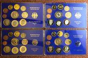 4 Kursmünzensätze Deutschland in Spiegelglanz