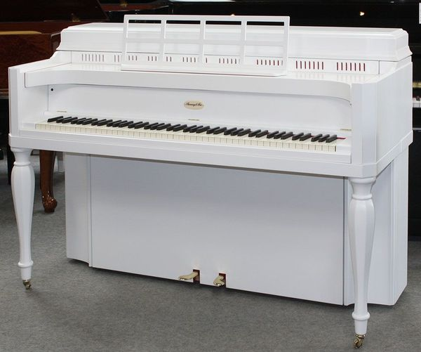 Klavier Steinway Sons 104 weiß