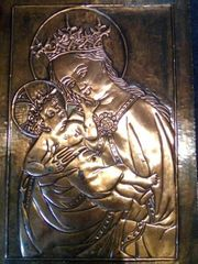 schones handgefertigtes Kupferbild