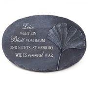 Grabschmuck Urnengrab Grabplatte mit Spruch -