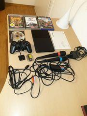 Playstation 2 slim mit viel