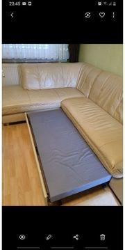 Eck Cauch Leder mit Bett