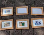 6 Holzbilderrahmen