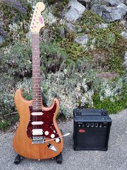 Stratocaster Stagg mit Übungsverstärker