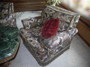 Wohnzimmer-Sitzgarnitur Brokat mit Daunen 70er