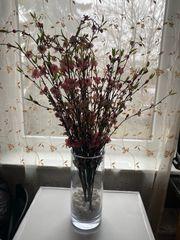 Deko Vase mit Trocken-Blumen Dekoration
