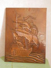 Schiff Segelschiff Kupferbild