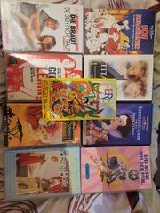 Diverse Bücher geschichtsbücher und Videokassetten