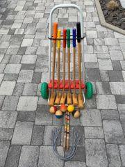 Krocket Crocket Spiel aus Holz