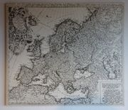 Europakarte alt historisch antik Wandkarte