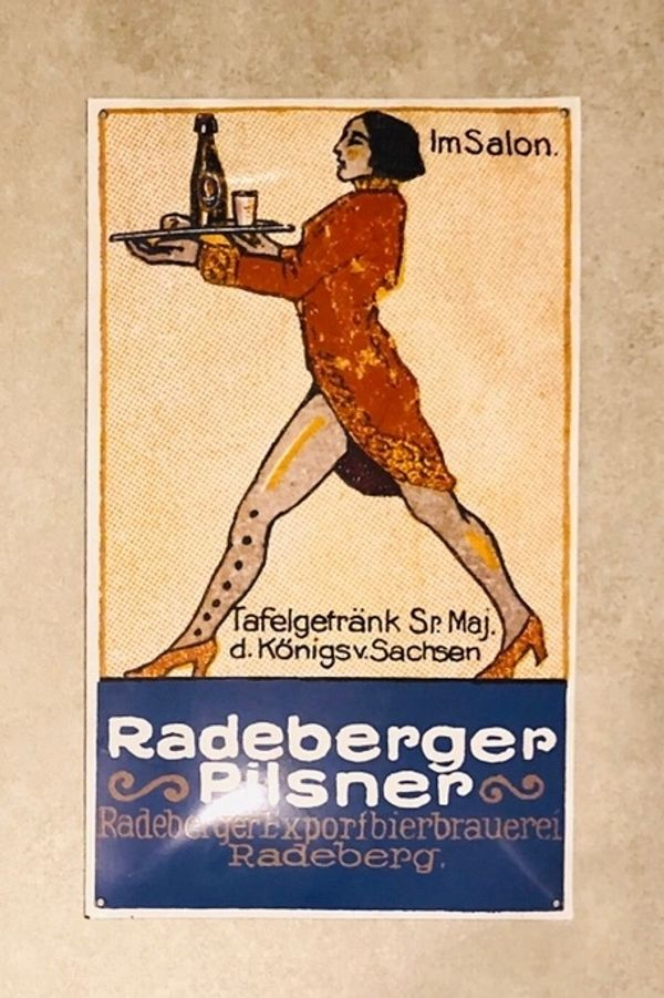 Emailschild Radeberger Pilsner - Im Salon