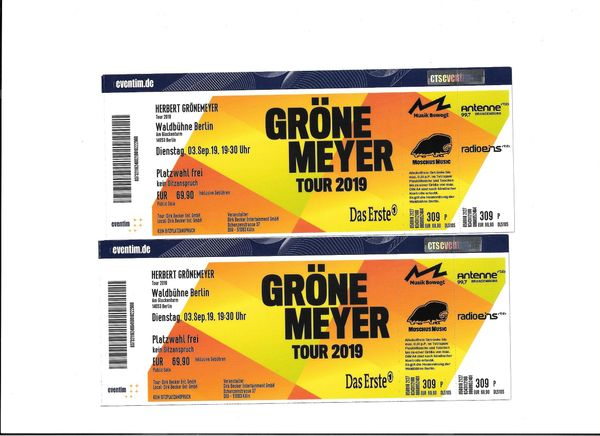 Herbert Grönemeyer Tickets Berlin