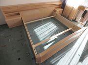 Doppelbett mit Schränkchen - Eiche lasiert