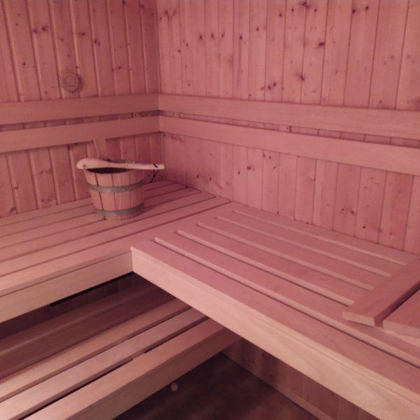 Sauna komplett mit Ofen und