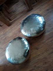 Bodensitzkissen rund silber 2 StückBreit