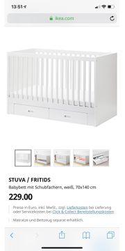 Babybett Fritids von Ikea Matratze