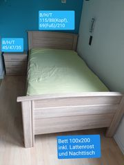 Bett 100x200 inkl Lattenrost und