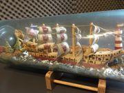 Buddelflasche Segelschiff in einer 3
