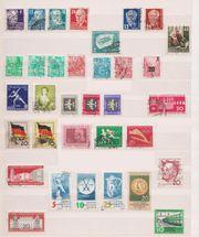 Ca 30 gestempelte Briefmarken SBZ
