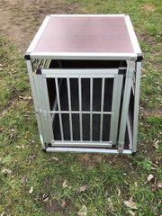 Hundetransportbox XXL Alu x Holz